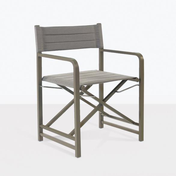 el fresco grey dining chair outdoor angle