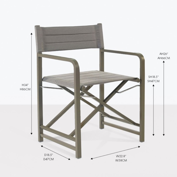 el fresco folding dining chair
