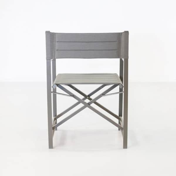 folding directors dining chair back view