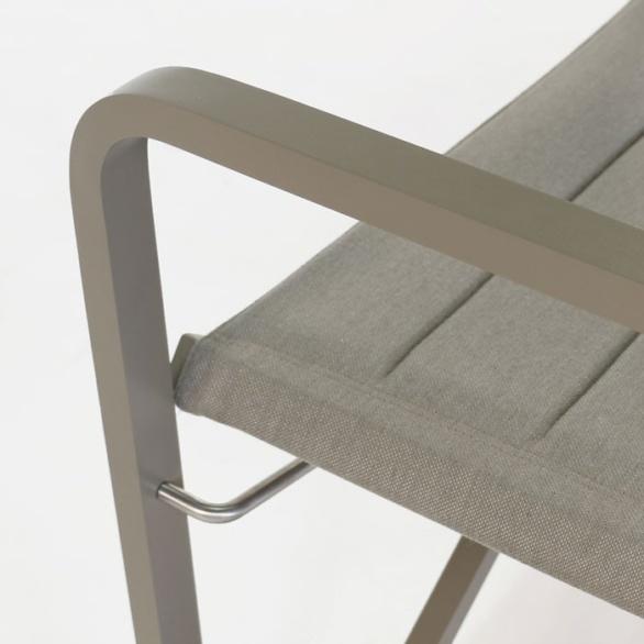 powder coated aluminum outdoor furniture closeup