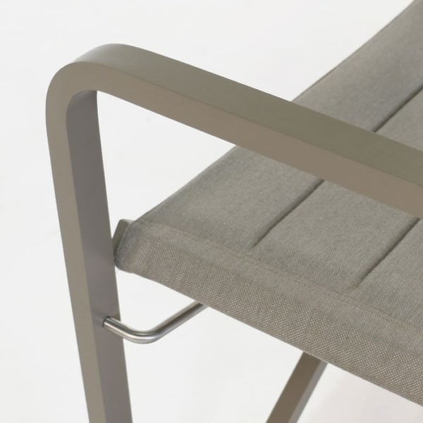 powder coated aluminum outdoor furniture closeup