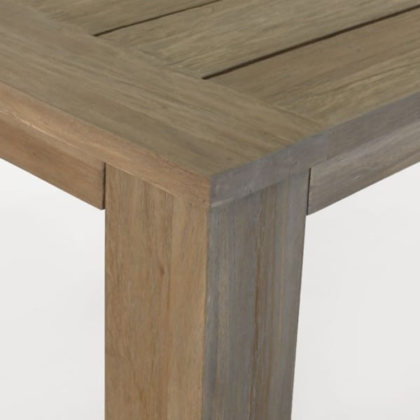 reclaimed teak dining table joints