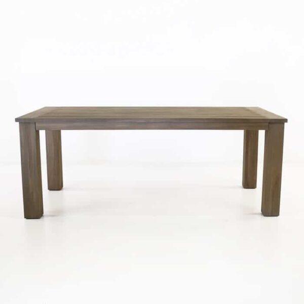 dark brown outdoor recycled teak dining table
