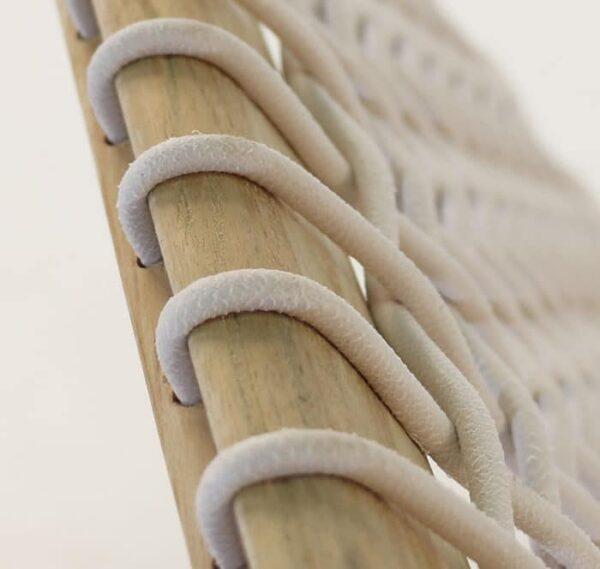 high-density polyethylene strands close up