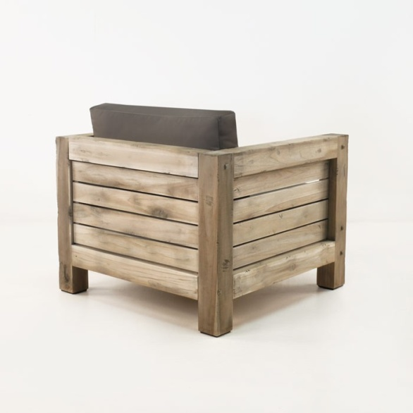 rustic teak outdoor chair