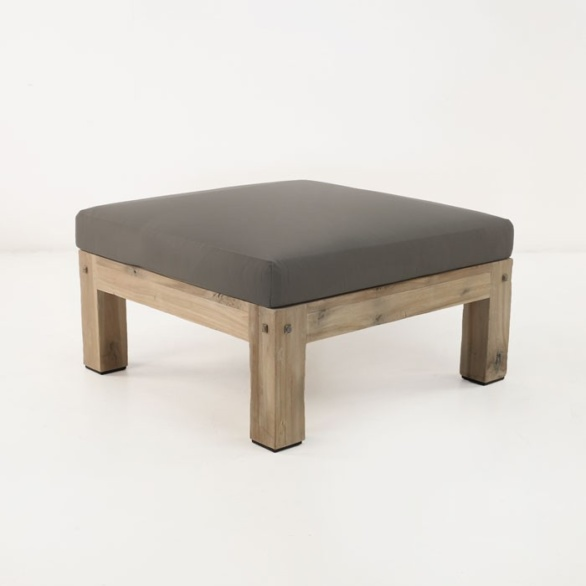Lodge Outdoor Distressed Teak Ottoman-0