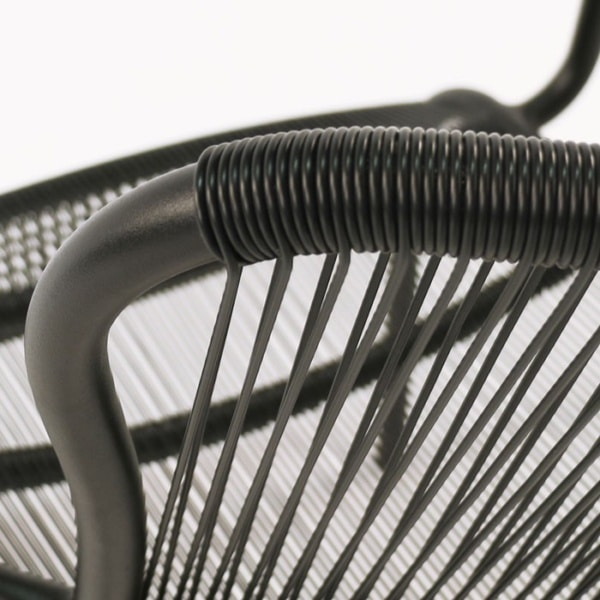 black chair close up