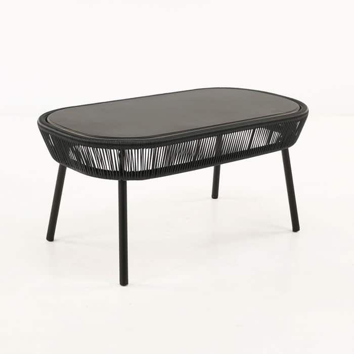 Luxe Outdoor Coffee Table (Black)