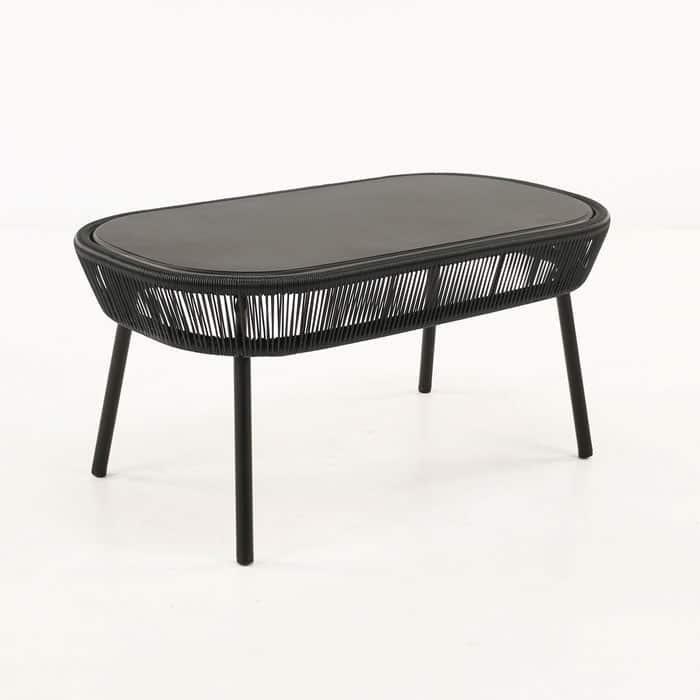 Luxe Outdoor Coffee Table Black Patio Furniture Teak Warehouse