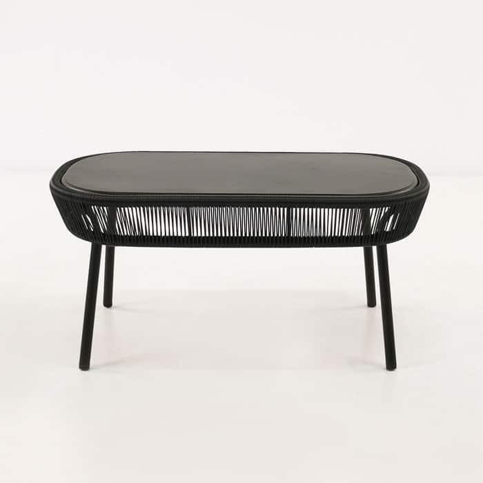 Dark Teak Coffee Table: Luxe Outdoor Coffee Table (Black)