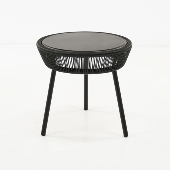 Luxe Outdoor Accent Table (Black)-0
