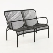 Luxe Outdoor Loveseat (Black)-0