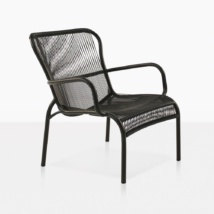 Luxe Aluminum and Plastic Outdoor Wicker Chair