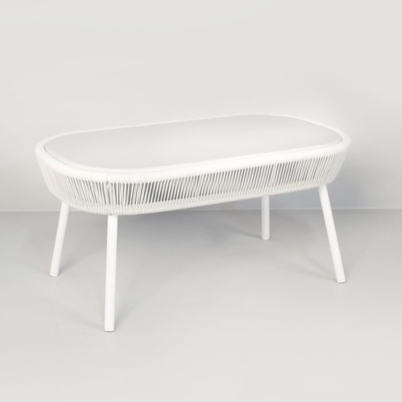 Luxe Outdoor Coffee Table (White)-0