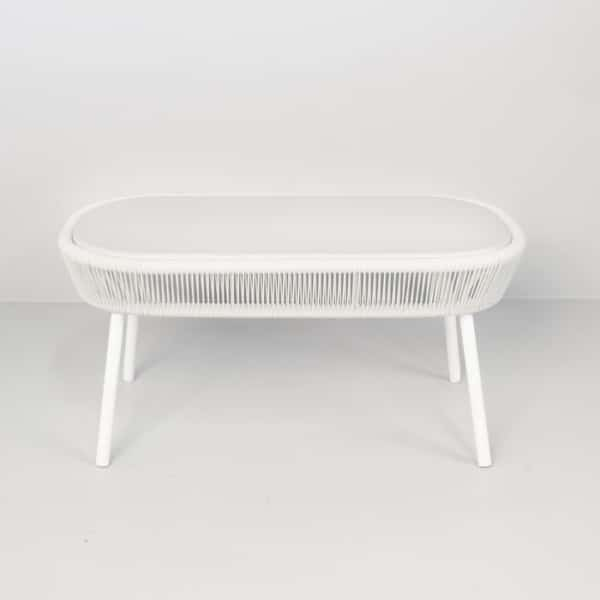 white coffee table side angle