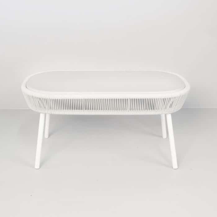 luxe outdoor coffee table white patio furniture teak