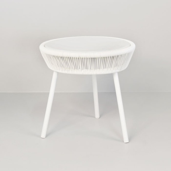 Luxe Outdoor Accent Table (White)-0