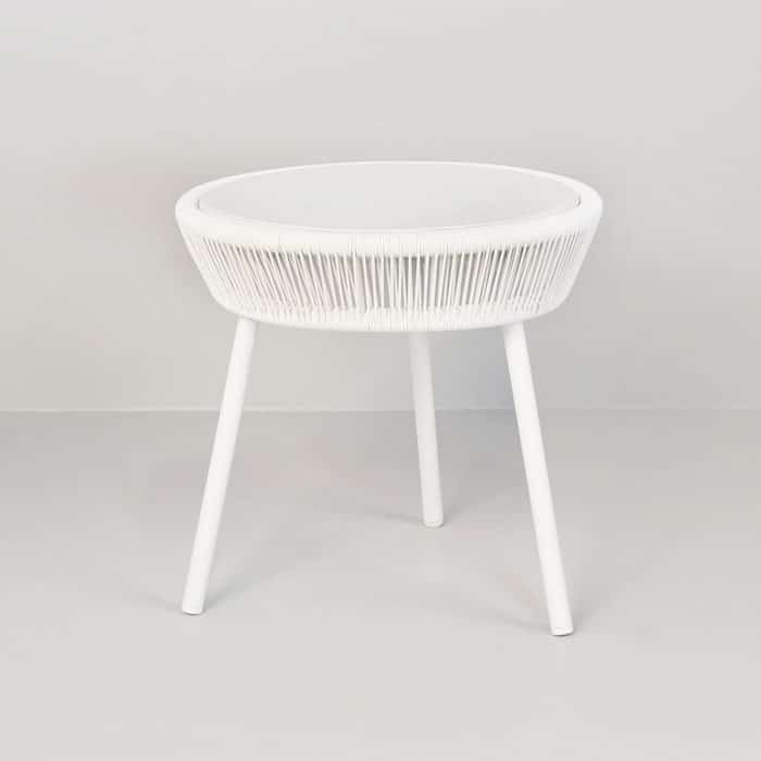 Luxe Outdoor Accent Table (White)