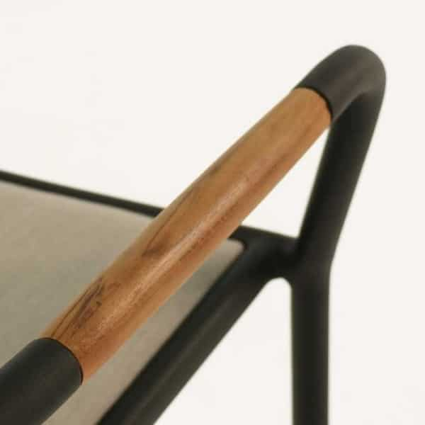 brown dining chair close up
