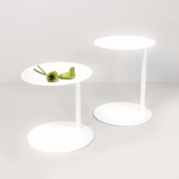 side table white round