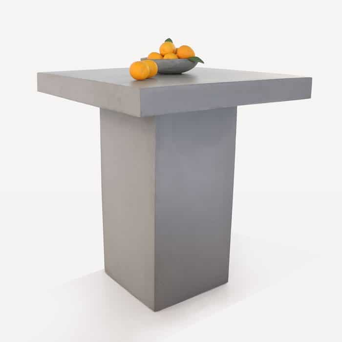 Raw Concrete Bar Height Table