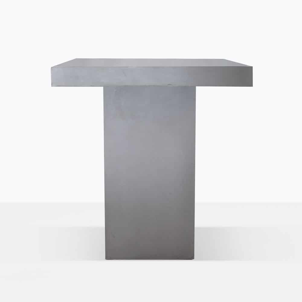 Raw Concrete Bar Height Table Accent Furniture Teak Warehouse