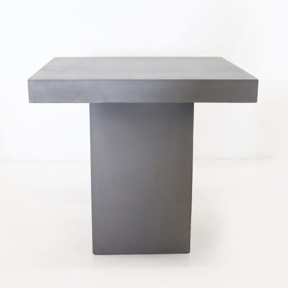 raw concrete table