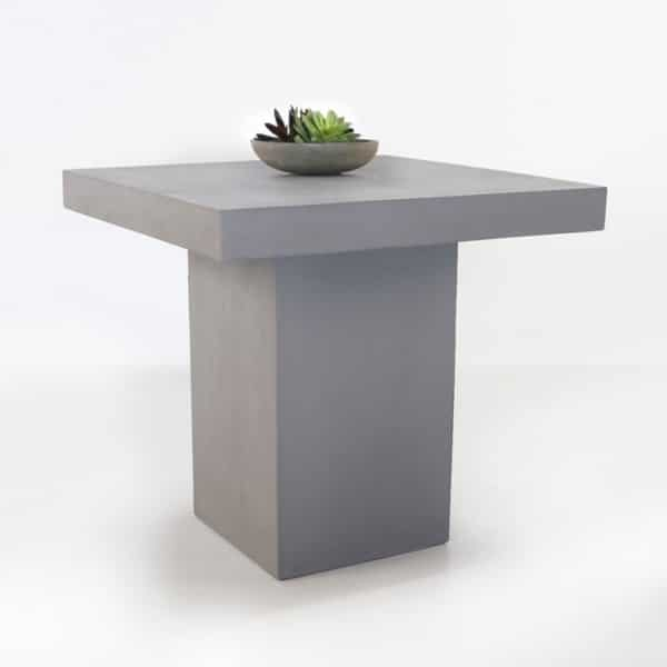 commercial raw concrete gray table