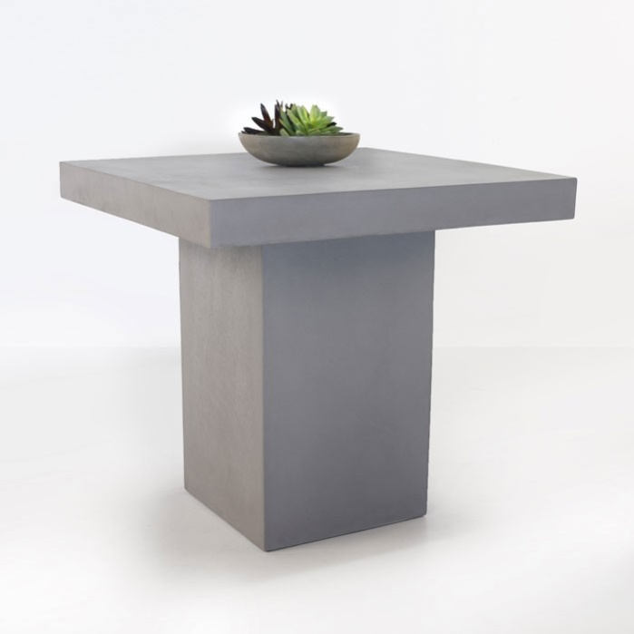 Raw Concrete Counter Height Table 0