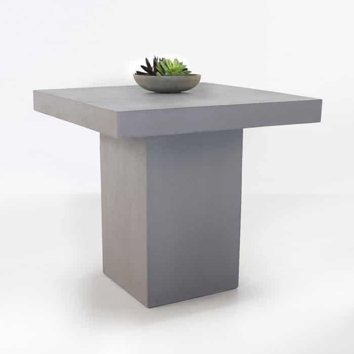 Concrete Counter Height Bar Table Raw Close Up Gray