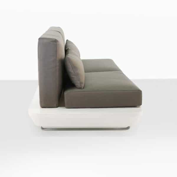 modern outdoor sofa with cushions white
