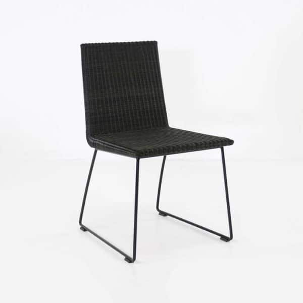 brown wicker dining chair