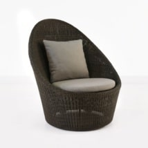 Sunai High-Back Wicker Relaxing Swivel Chair-0
