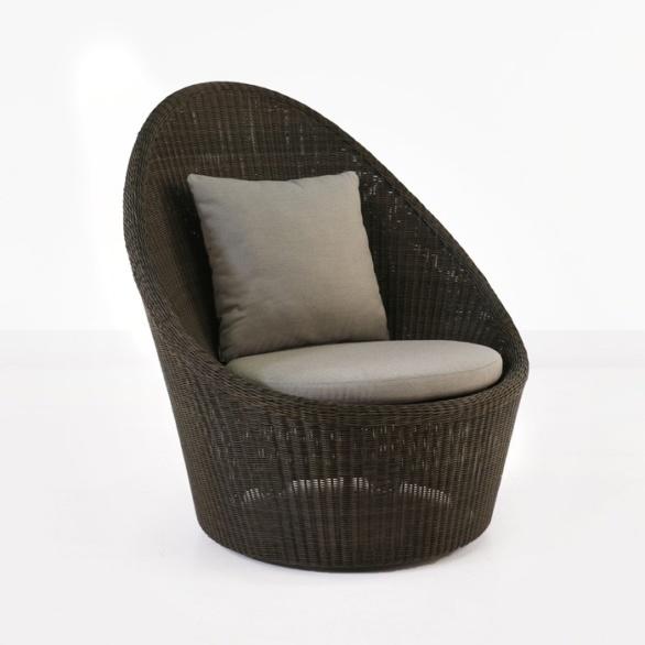 Sunai High-Back Wicker Relaxing Swivel Chair-0
