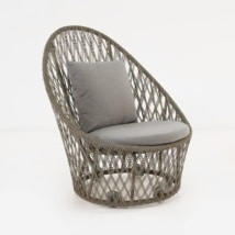 Sunai Open Weave Relaxing Swivel Chair-0