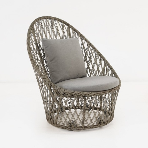Sunai Open Weave Relaxing Swivel Chair Teak Warehouse