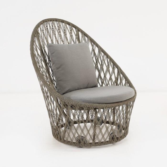 Sunai Open Weave Relaxing Swivel Chair-0