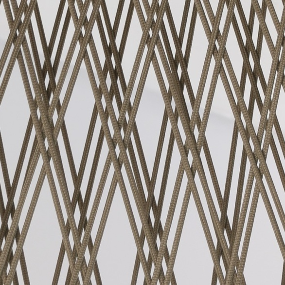 close up brown wicker open weave