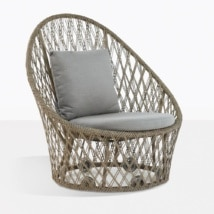 Sunai Woven Rope Relaxing Chair That Spins