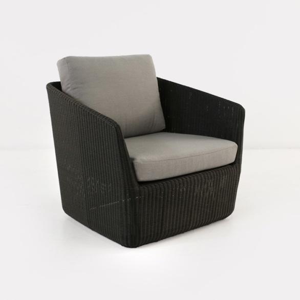 Urban Outdoor Wicker Relaxing Chair (Charcoal)-0