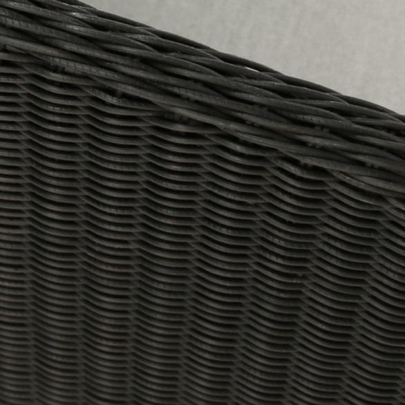 black wicker weave close up