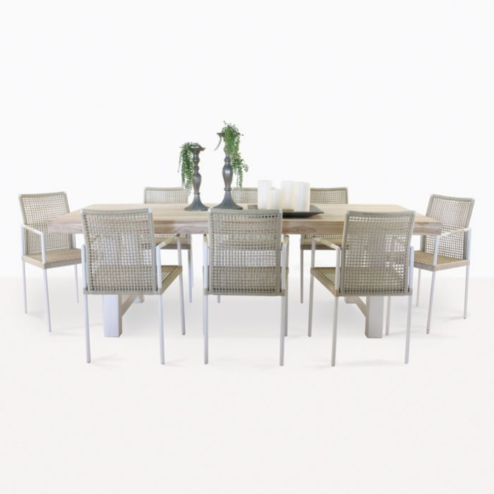 Village Dining Table and 8 Moderno Chairs-0