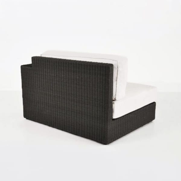 modern outdoor wicker chair with cuhsions