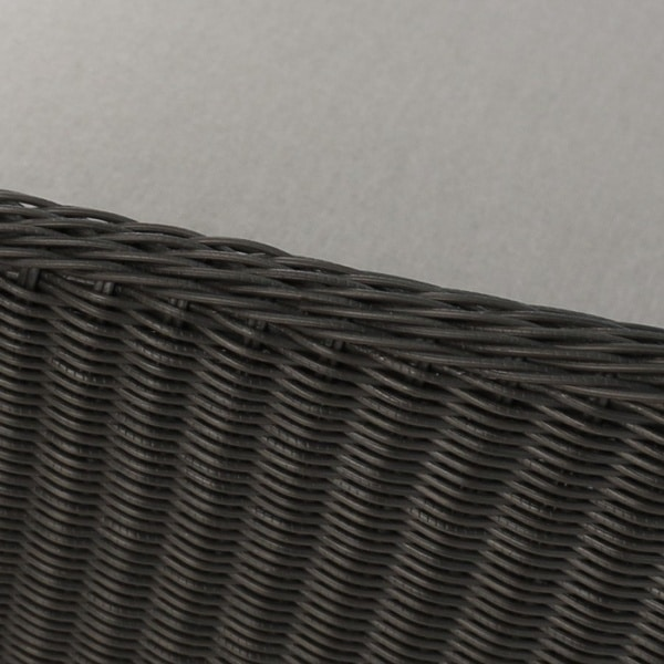 close up black wicker weave