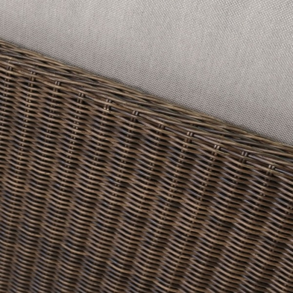 close up brown wicker weave