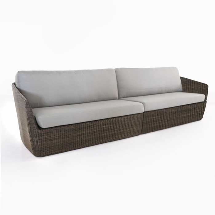 Brooklyn Outdoor Wicker Sectional Sofa (Mocha) 0