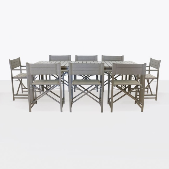 El Fresco Rectangular Dining Table with 8 Director Chairs-0