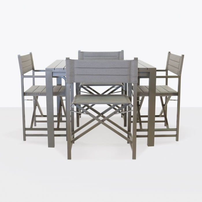 El Fresco Square Dining Table with 4 Director Chairs-0