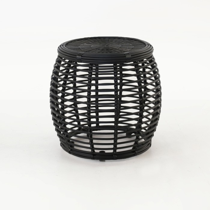 Kane Drum Accent Table (Charcoal)