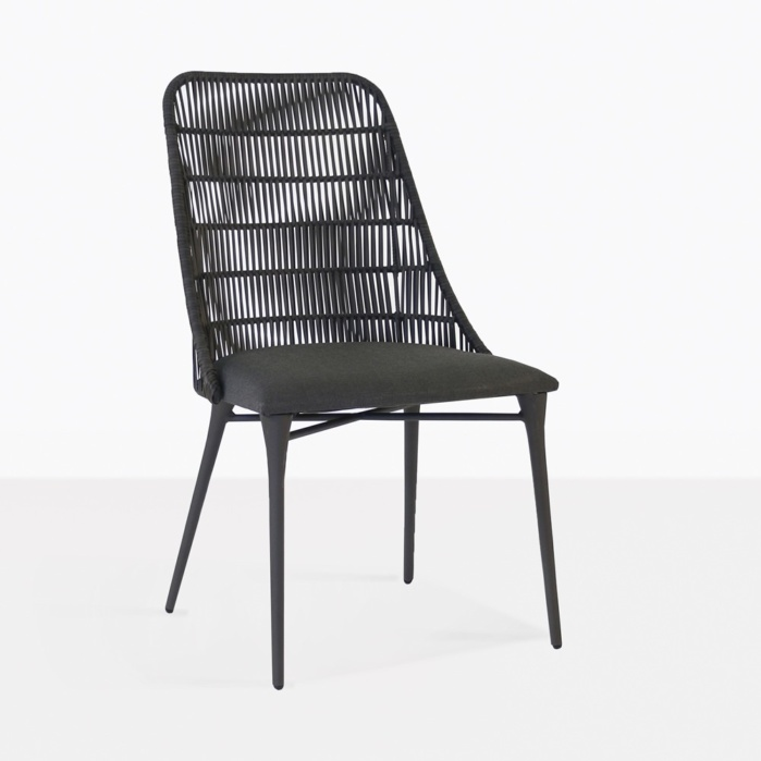 Morgan outdoor wicker dining chair cocoa sunbrella